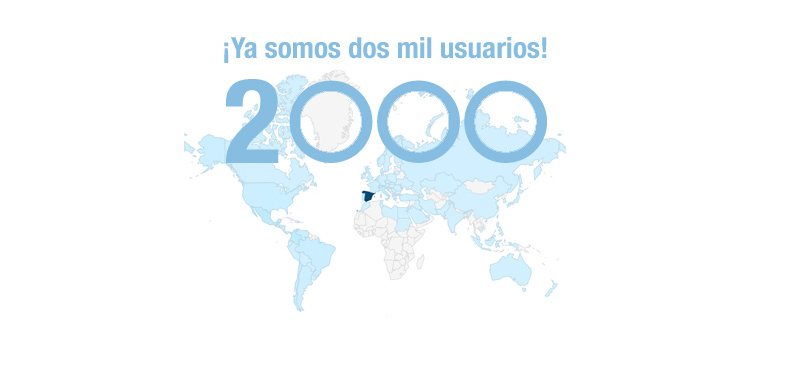 Ya somos 2.000 usuarios