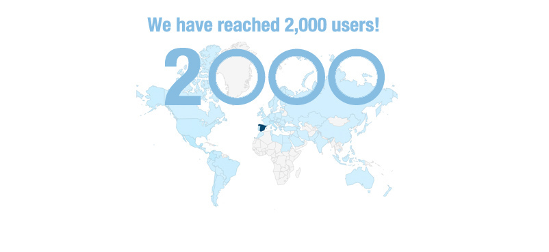 We have reached 2,000 users!